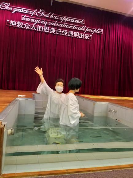 Mさんのバプテスマ