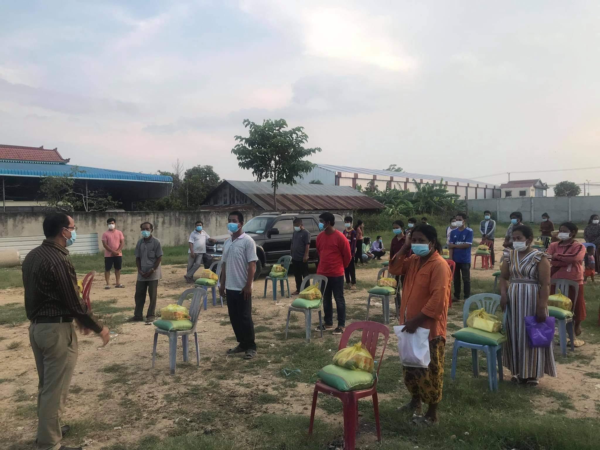 CBU(カンボジアバプテスト連合)による食料配給