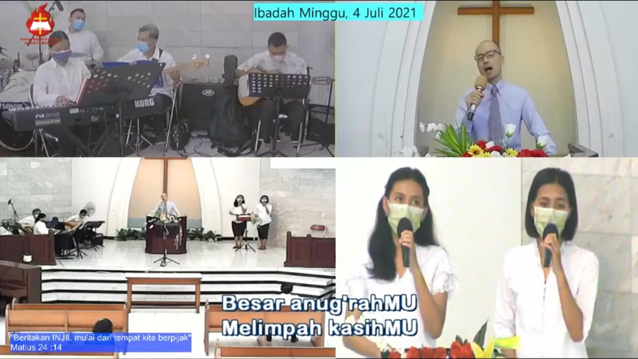 オンライン礼拝での説教奉仕
